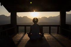 Cabana da meditação Fotos de Stock Royalty Free