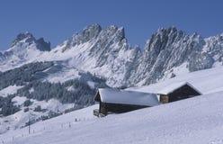 Cabana da montanha Fotografia de Stock Royalty Free