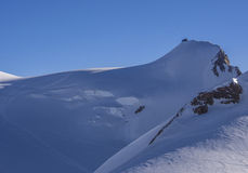 Cabana da montanha de Capanna Regina Margherita, Monte Rosa, cumes, Itália Imagem de Stock
