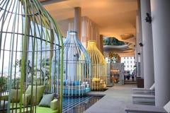 Cabana da piscina no hotel recentemente aberto Pickering de Parkroyal em Singapura do centro Fotos de Stock