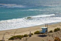 Cabana da salva-vidas na praia de Malibu Foto de Stock Royalty Free