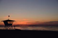 Cabana da salva-vidas no inverno Fotografia de Stock Royalty Free