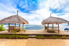 Cabana de bambu fotografia de stock