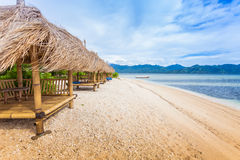 Cabana de bambu foto de stock