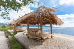 Cabana de bambu imagens de stock