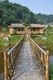 Cabana de bambu perto da água Foto de Stock Royalty Free