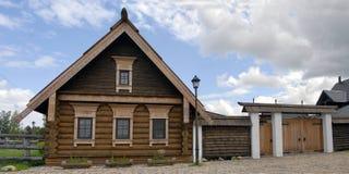 Cabana de madeira foto de stock