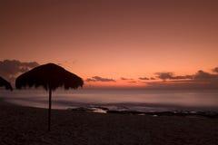 Cabana de Palapa Fotos de Stock