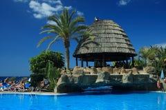 Cabana de Sun, de mar e de praia Fotos de Stock Royalty Free