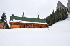 Cabana de Turist no inverno Foto de Stock Royalty Free