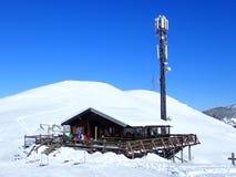 Cabana do esqui de Baita do La da barra, 12083 Frabosa Sottana foto de stock royalty free