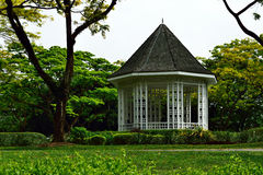 Cabana do Nipa do jardim botânico Imagem de Stock