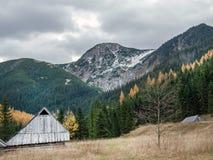 A cabana do pastor de madeira idoso foto de stock