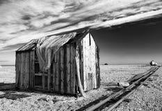 A cabana do pescador desolado imagens de stock royalty free