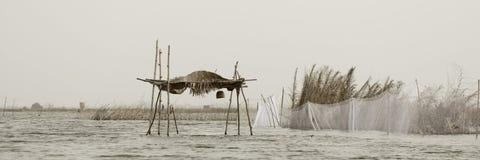 Cabana do Stilt imagens de stock