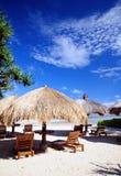 Cabana door het strand Stock Foto