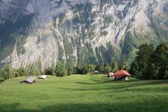 Cabana dos alpes em Gimmelwald Switzerland Fotos de Stock Royalty Free