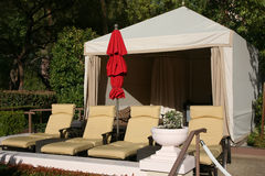Cabana at a luxury resort Royalty Free Stock Image