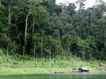 Cabana na borda do lago Fotografia de Stock