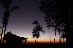 Cabana na noite Imagem de Stock Royalty Free