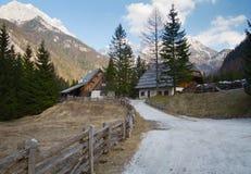 Cabana nas montanhas Fotografia de Stock
