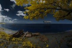 Cabana no mar Imagem de Stock