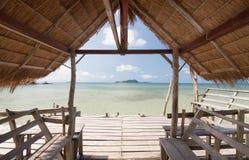 Cabana no mar fotografia de stock royalty free