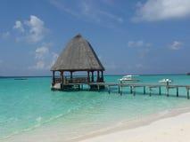 Cabana no Oceano Índico de turquesa Imagem de Stock Royalty Free