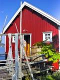 Cabana norueguesa do pescador Fotos de Stock Royalty Free