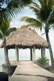 Cabana på det karibiskt Arkivfoto