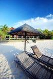 Cabana pela praia Imagens de Stock