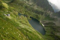 Cabana Podragu in Fagaras mountains. Cabana Podragu in Fagaras national park in Transylvania, Romania Stock Photos