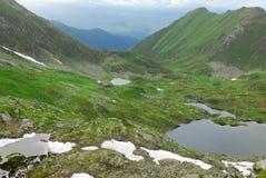 Cabana Podragu in Fagaras mountains. Cabana Podragu in Fagaras national park in Transylvania, Romania Royalty Free Stock Photo