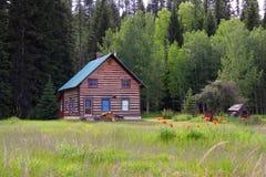 Cabana rústica de madeira Imagem de Stock Royalty Free