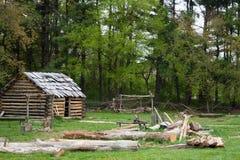 Cabana rústica de madeira Fotos de Stock Royalty Free