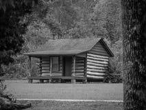 Cabana rústica de madeira Abraham Lincoln fotografia de stock