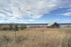 Cabana rústica de madeira canadense fotografia de stock