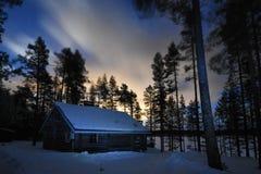 Cabana rústica de madeira Finlandia Imagem de Stock