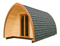 Cabana rústica de madeira isolada Imagem de Stock