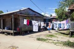 Cabana simples no campo malgaxe, Madagáscar imagem de stock royalty free