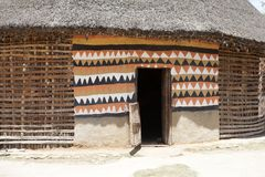 Cabana tribal africana Fotografia de Stock