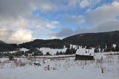 Cabana velha da montanha Imagem de Stock