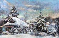 Inverno da neve Fotografia de Stock