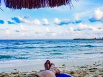 Cabana z widokiem na ocean zdjęcia stock