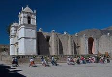 Cabanaconde Peru Stockbilder