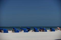 Cabanas пляжа Clearwater Стоковые Изображения RF