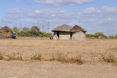 Cabanas africanas Imagens de Stock Royalty Free