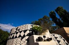 Cabanas africanas da argila no safari do jardim zoológico, Dvur Kralove Fotos de Stock