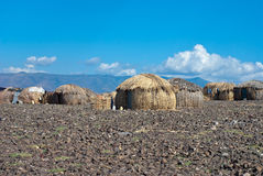 Cabanas africanas tradicionais, Kenya Foto de Stock Royalty Free
