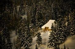 Cabanas alpinas Fotos de Stock Royalty Free